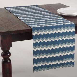 Zig Zag Design Navy Blue Runner