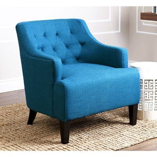 ABBYSON LIVING Davis Petrol Blue Fabric Armchair