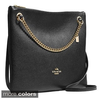 Coach Convertible Pebbled Leather Crossbody Bag