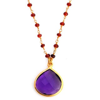 Gold Overlay Amethyst Necklace