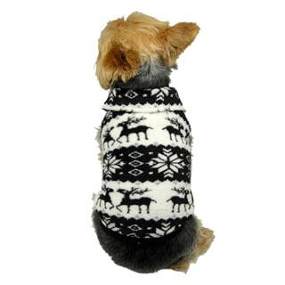 Insten Pet Puppy Dog Fleece print Sweater Sweatshirt