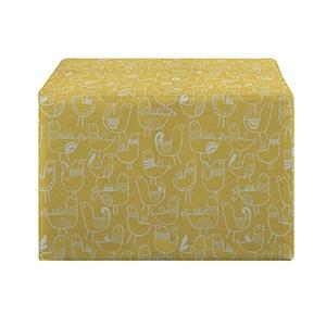 Better Living Brayden Yellow Bird Design Large Cube Ottoman