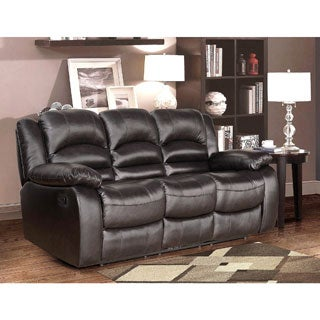 ABBYSON LIVINGBrownstone Premium Top-grain Leather Reclining Sofa