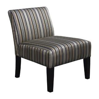 Somette Armless Slipper Grey Stripe Chair