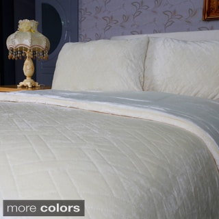Pinsonic Diamond Pattern 3-piece Comforter Set