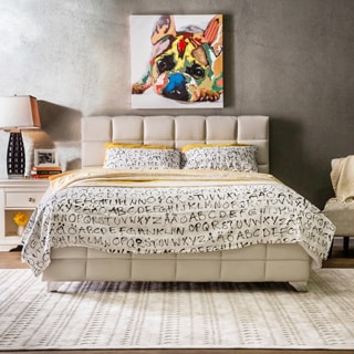 Furniture of America Taurie Tufted Leatherette Platform Bed