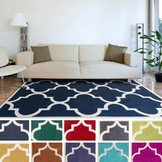 Artfully Crafted Mya Geometric Polyester Area Rug-(8' x 11')