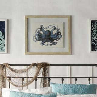 Blue Octopus Framed Giclee Print Wall Art