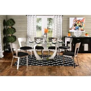 Furniture of America Sculpture II Contemporary 7-Piece Dining Set