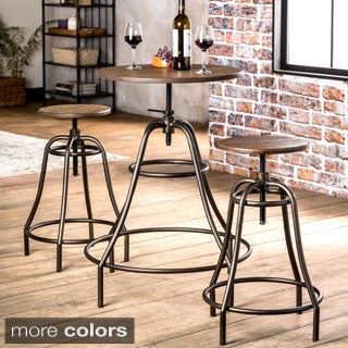 Furniture of America Gorgia 3-Piece Industrial Style Bar Set
