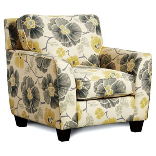 Furniture of America Gianne Contemporary Floral Club Chair