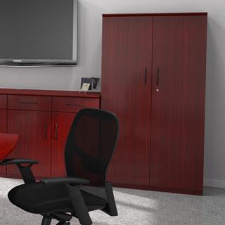 Mayline Veneer 68-inch Wood Door Wall Cabinet