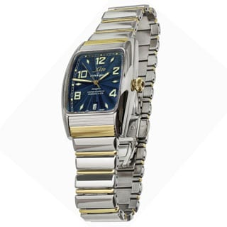 Xezo Incognito Men's Two-tone Stainless Steel Tonneau Automatic Luxury Watch