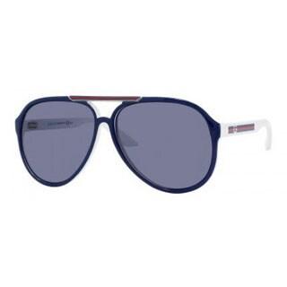 Gucci Men's 1627/S Plastic Aviator Sport Sunglasses