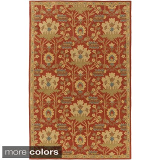 Hand-Tufted Widnes Floral Wool Rug (2' x 4' Hearth)