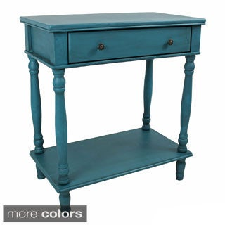 International Caravan Ashbury Shabby Chic Wood Veneer 1-drawer Console Table