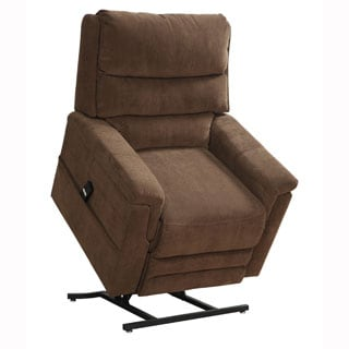 Myles Brown Fabric Power Lift Chair Recliner