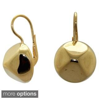 Gioelli Sterling Silver Round Pyramid High Polish Dangle Earrings