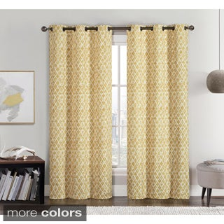 Victoria Classics Amadora Grommet Top 84-inch Curtain Panel Pair