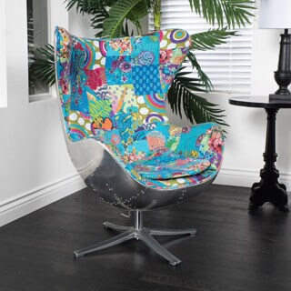 Christopher Knight Home Gordon Patchwork Fabric Swivel Chair