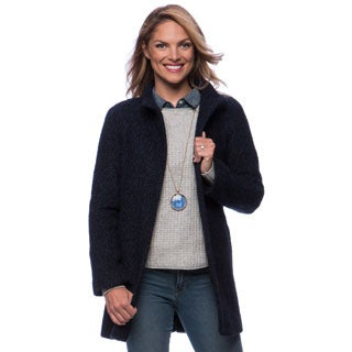 Anne Klein Boucle Stand Collar Coat