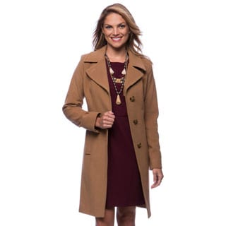 Anne Klein Cashmere Notch Collar Walker Coat
