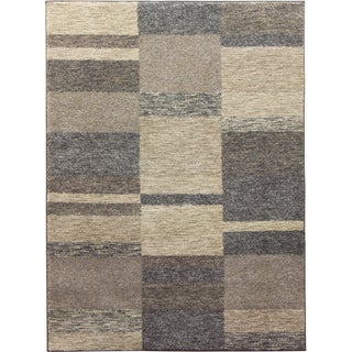 Altitudes Warm and Cool Neutrals Abstract Area Rug (7'9 x 9'8)