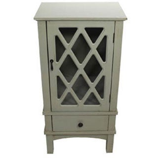 Heather Ann Single Glass Door and Single Drawer Accent Cabinet