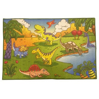Babies Collection Multicolor Dinosaurs Area Rugs (5' x 6'6)