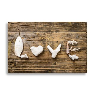 Gallery Direct Beachy Love' Gallery-wrapped Canvas