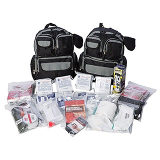 EZ Urban Survival Bug-out Bag - 4 Person for 72 hours, Family Survival Kit, Emergency Kit