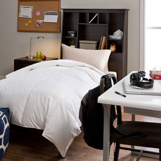 Luxury Oversized American White Down Twin XL Dorm Ready College University Bafflebox Comforter