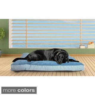 Furhaven Stripe Deluxe Pillow Pet Bed