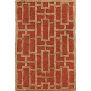 Hand-tufted Thaxted Geometric Wool Rug (3' x 5')