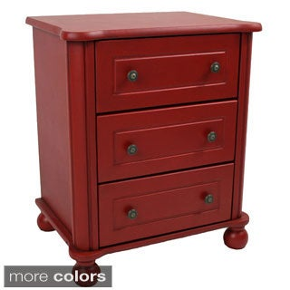 International Caravan Ashbury Shabby Chic 3-drawer Side Table