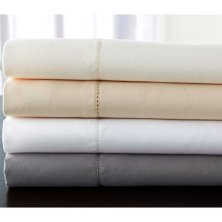 Luxury Estate 6-piece 1200 TC Cotton Rich Hemstitch Solid Sheet Set