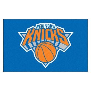 Fanmats Machine-made New York Knicks Blue Nylon Ulti-Mat (5' x 8')