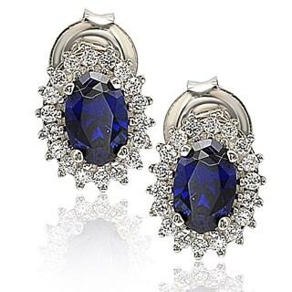 Suzy Levian Sterling Silver 18k Gold Gemstone Earrings