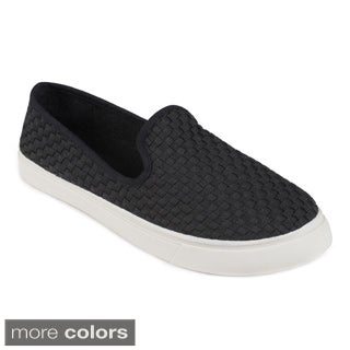 Journee Collection Women's 'Reed' Woven Slip-on Loafers