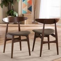 Impolicy Medium Imwidth 200 Peony Retro Dark Walnut Black Seat Dining Chairs Set