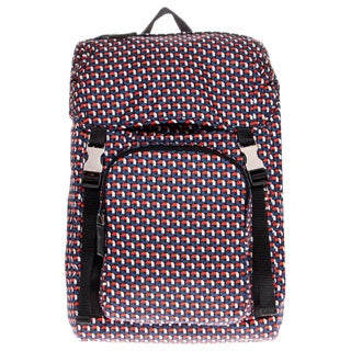 Prada Geometric Print Nylon Backpack