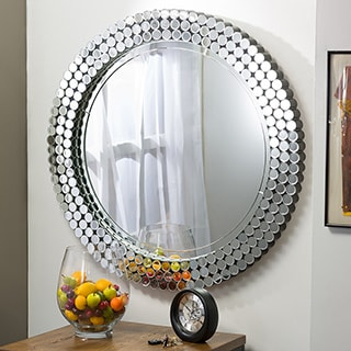 Baxton Studio Gavell Contemporary Round Accent Wall Mirror
