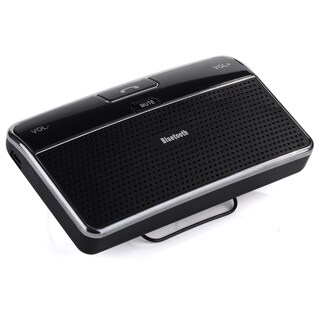 Bluetooth 4.0 Hands-free Car Speakerphone and Music Receiver with Visor Clip