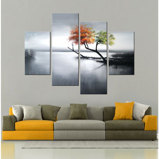 Design Art 'The Bright Side' Tree Oil Painting