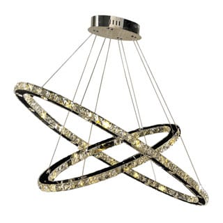 Galaxy 52-light LED Chrome Finish and Clear Crystal Chandelier