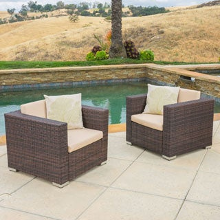 Christopher Knight Home Florence Outdoor Aluminum Club Chair with Cushions (Set of 2)