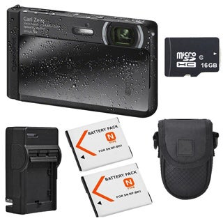 Sony Cyber-shot DSC-TX30 Black Digital Camera Bundle