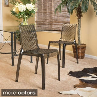 Christopher Knight Home Adalyn Transparent Side Chair (Set of 2)