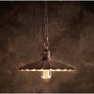 Shelby 1-light Bronze 10-inch Edison Chandelier with Bulb