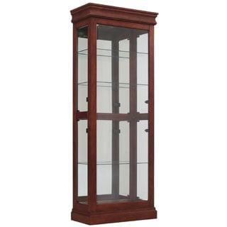 Bell'O Louie Philip Cherry Curio Cabinet